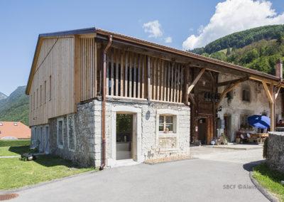Rénovation ferme protégée, Grandvillard