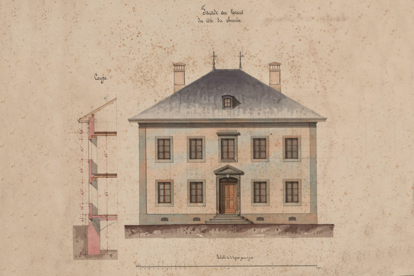 Rénovation de la cure historique de Grandvillard -Plan historique Cure Grandvillard