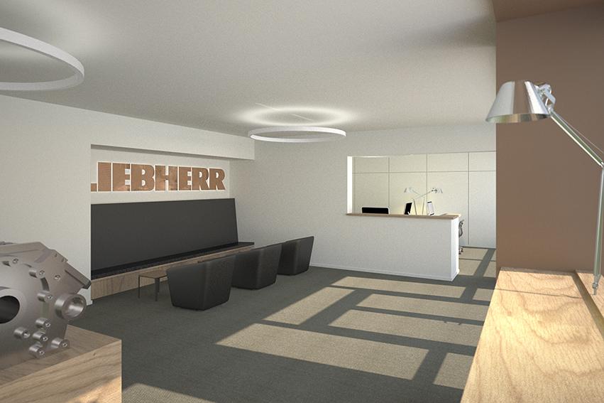Réception Liebherr projet (c) Saudan Tinguely Architectes Bulle